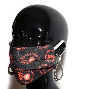 Kiss Rock & Roll Handmade Cotton Face Mask, Reu/Wa